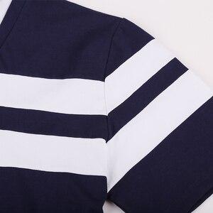 Image 5 - 6XL 8XL 10XL 2018 אופנה גברים עם פסים מותג קצר חולצת פולו Mens חולצת פולו בגדי קיץ חולצת מקרית למעלה חולצות זכר