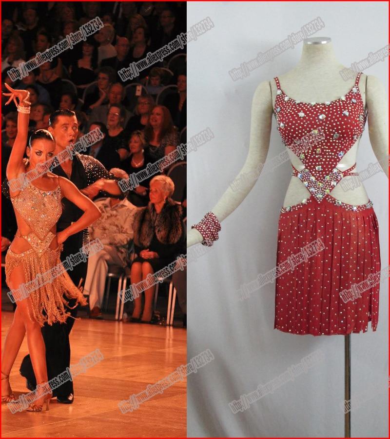 Maloprodaja !!!! Seksi latino obleka sijoče obleke s kratkimi rokavi - Odrska in plesna oblačila