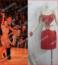 Retails!!!!Sexy latin dress Shiny Sequins Fringe Backless Latin Dance Dress,Strage Dress,Performance Wear L-0071