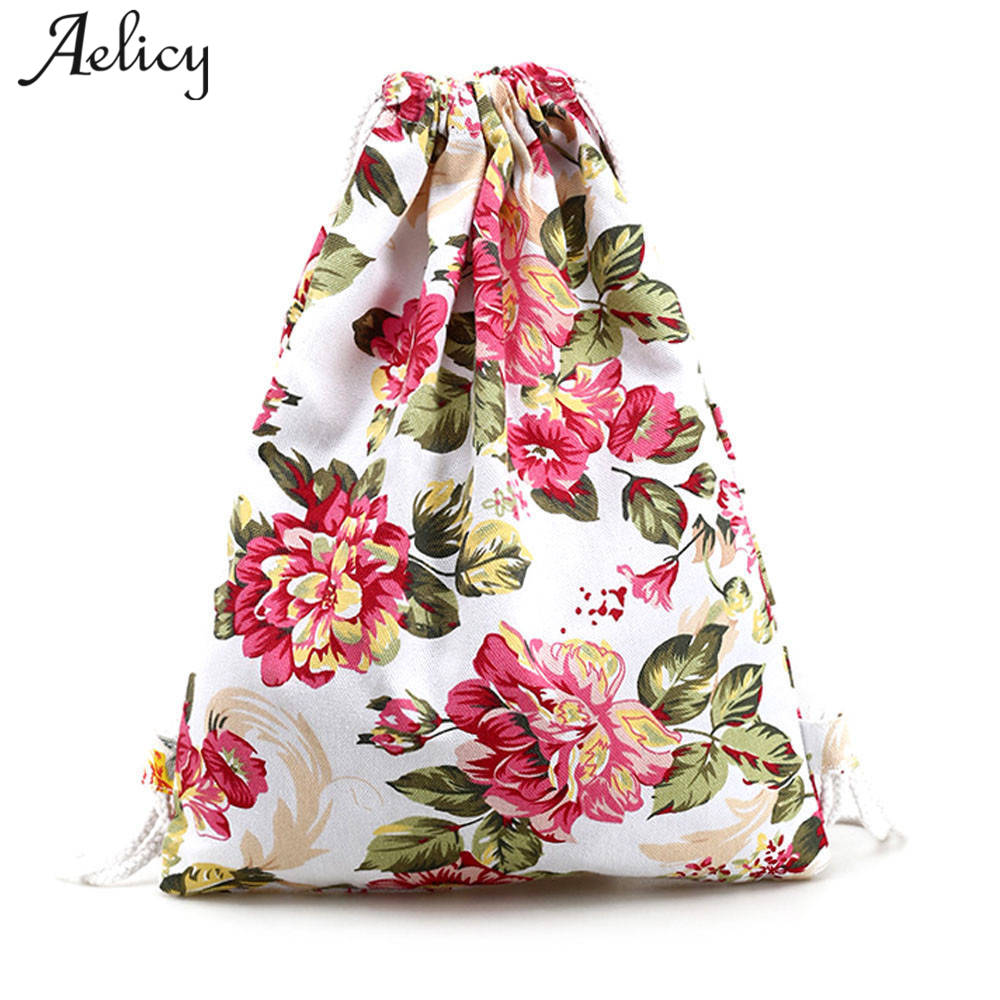Aelicy  Drawstring Bag Small Canvas Womens Backpack for Cartoon Printing Girls Cute Daypack Kids Satchel Softback MochilasAelicy  Drawstring Bag Small Canvas Womens Backpack for Cartoon Printing Girls Cute Daypack Kids Satchel Softback Mochilas