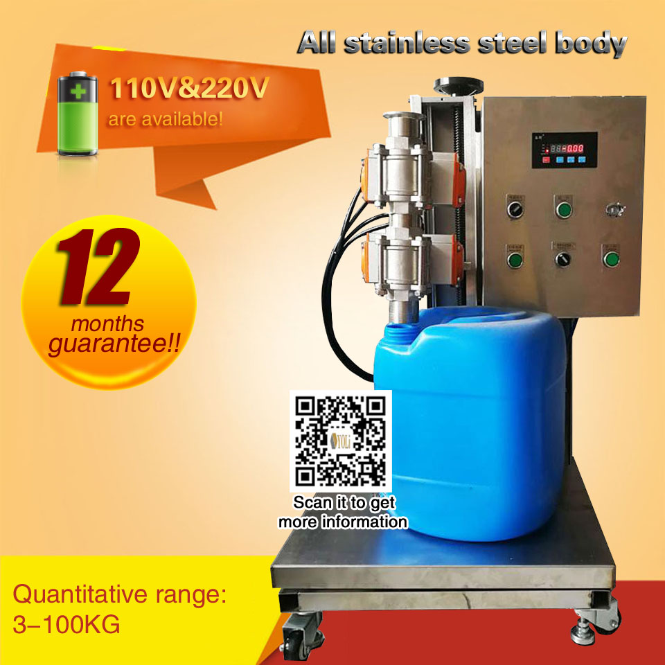 3-100kg Automatic Quantitative Filling Machine  Liquid Filling Machine Using Electronic Weighing Method For Bucket Liquid