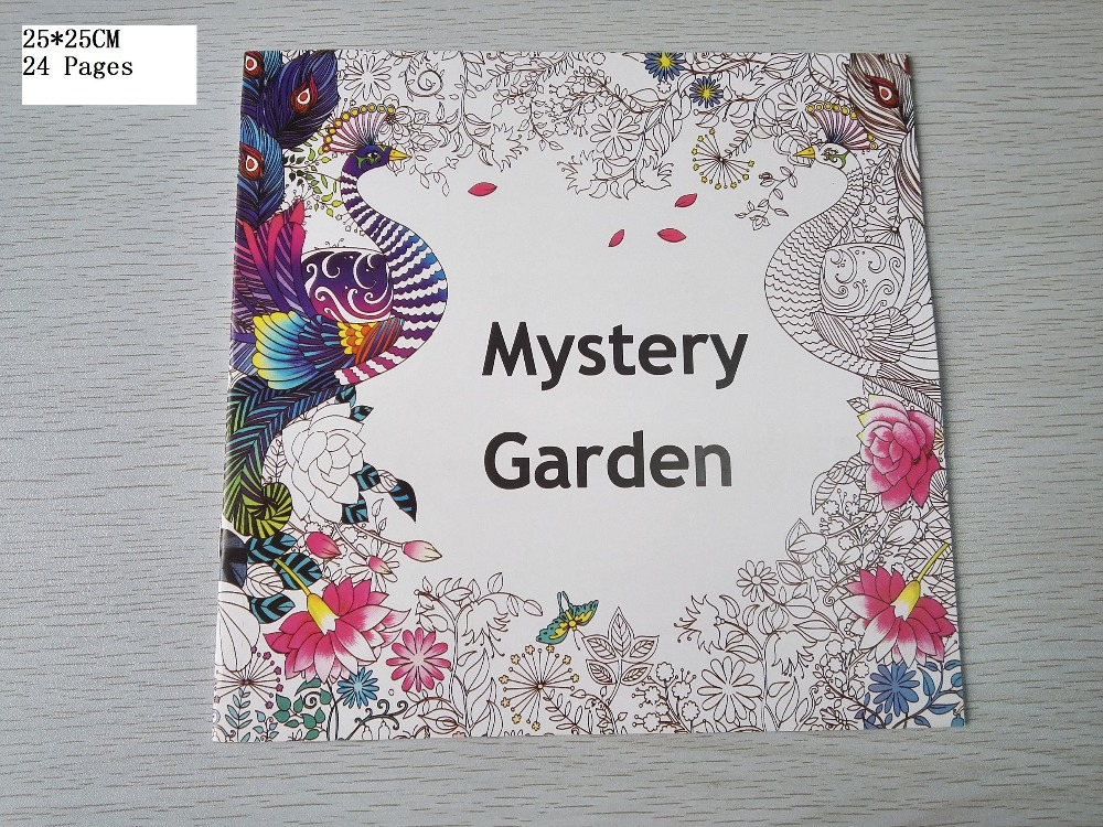 English Edition Mystery Garden Coloring Book 24 Pages Secret Styles For Adult Relieve Stress Painting Drawing Books In From Office School