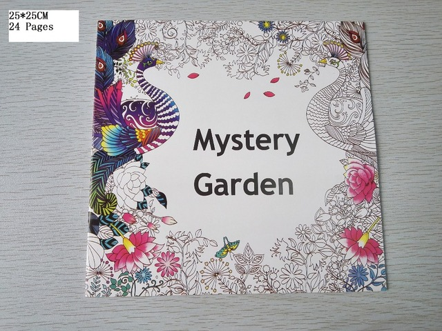 English Edition Mystery Garden Coloring Book 24 Pages Secret Styles For Adult Relieve Stress Painting