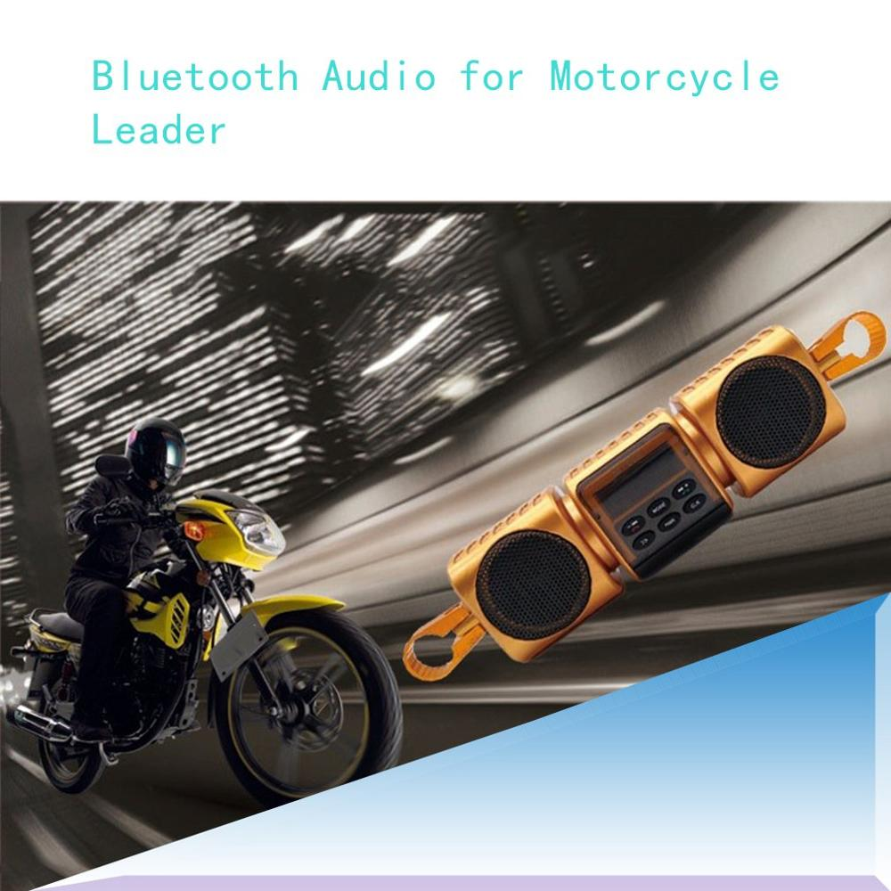 12V Black Motorcycle MP3 Music Player Bluetooth Stereo for Harley for honda Speakers FM Radio With LED Display Waterproof in Motorcycle Audio from Automobiles Motorcycles