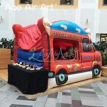 Подгонянный мобильный фургон Надувное мороженое, дом продавца шлюхи льда стойла стойки продажи мороженого для продажи