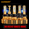 Auxmart H7 H11 H13 9005 HB3 9006 HB4 H4 Car Bulbs Led Headlight Kits Dipped Beam