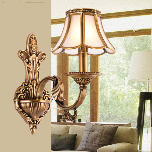 American rural warm bedside wall lamp mirror front lamps bedroom living room lights aisle corridor e14 LED5W Copper wall lampAmerican rural warm bedside wall lamp mirror front lamps bedroom living room lights aisle corridor e14 LED5W Copper wall lamp