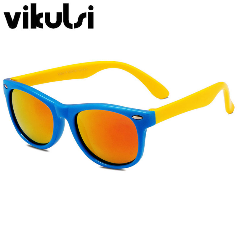 Classique Infantile TAC lunettes de Soleil Polarisées Enfants Silicone  Cadre Enfants Sécurité Revêtement lunettes de Soleil Protection UV400  oculos de sol b24c24e754a4