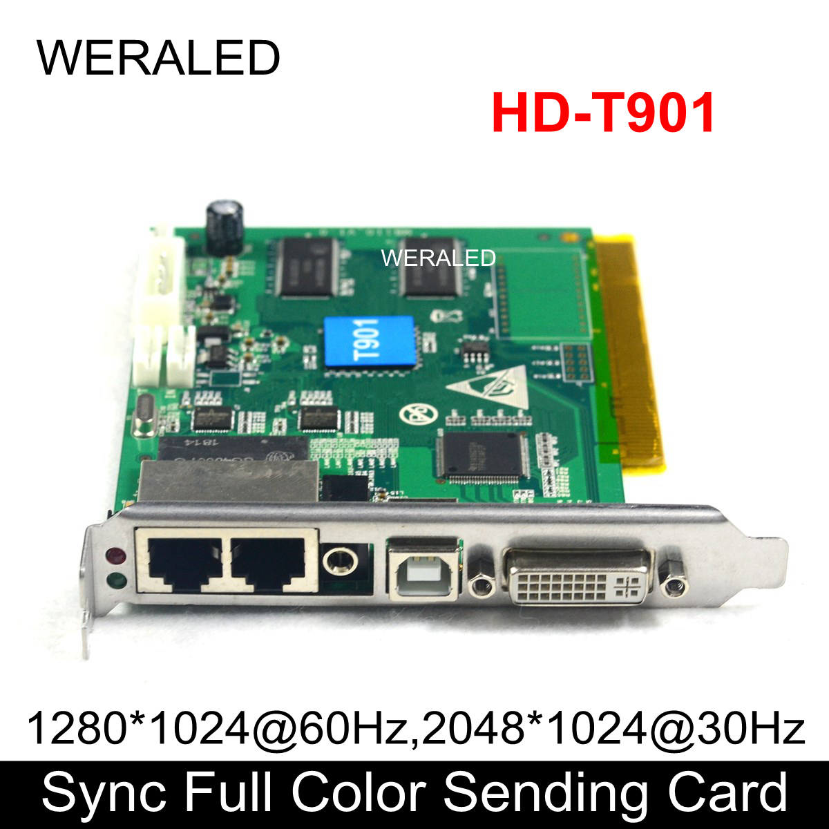 Huidu Synchronous Full Color Sending Card HD T901, RGB LED Video Controller support P2.5 P3 P4 P5 P6 P7.62 P8 P10 LED Video Wall