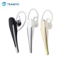 Teamyo HM1100 Bluetooth Headset Ear Hook Wireless Stereo Earphones With Mic Earbuds Music Volume Control For