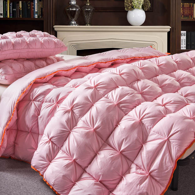 Pink color Twisted flower Goose Down comforter king queen full twin size Thick winter Quilted Stitching duvet Solid color Pink color Twisted flower Goose Down comforter king queen full twin size Thick winter Quilted Stitching duvet Solid color