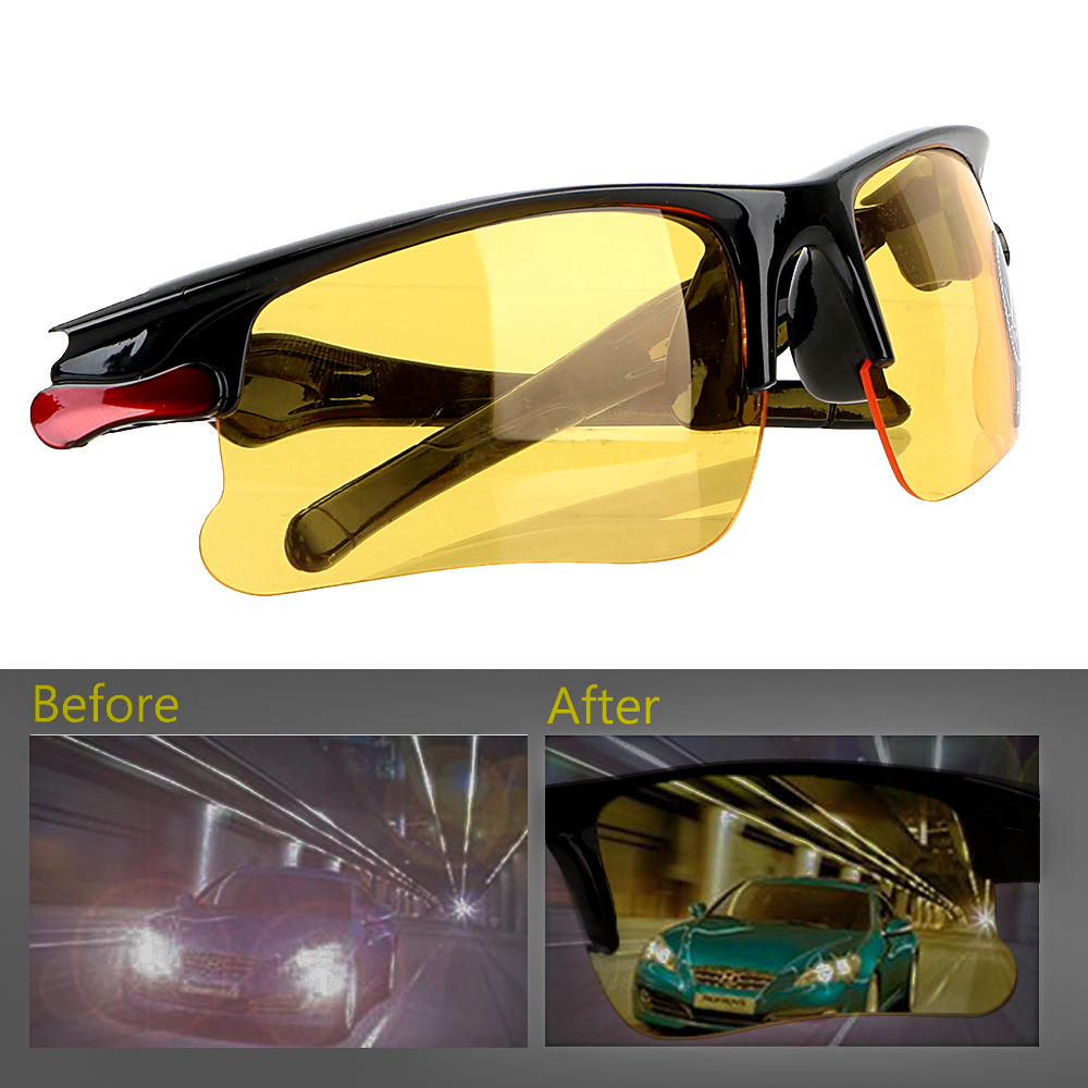 Night Vision Drivers Goggles Interior Accessory Protective Gears Sunglasses Night-Vision Glasses Anti Glare Car Driving Glasses
