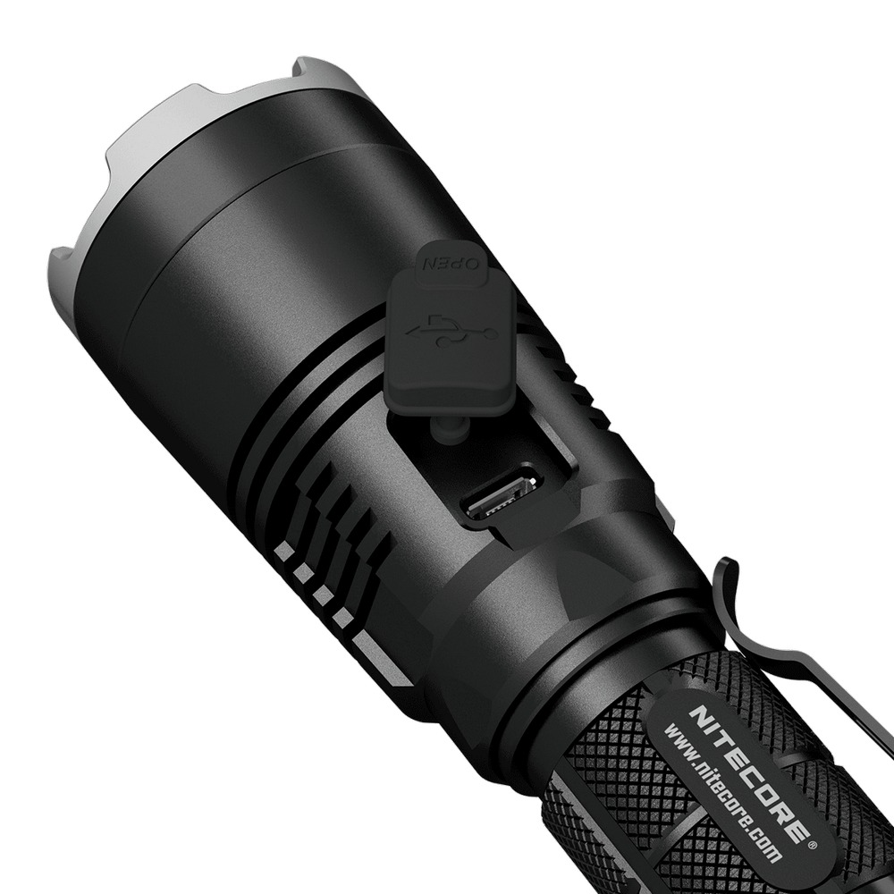 Image 2 - SALE NITECORE MH27 with 18650 Battery Rechargeable Flashlight CREE XP L HI V3 1000LM RGB LED High Bright EDC Torch Free Shipping-in LED Flashlights from Lights & Lighting