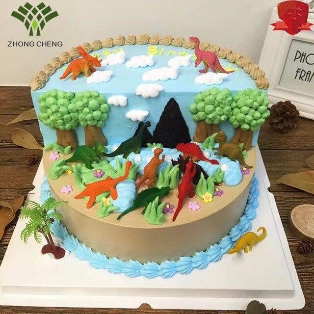 6 Stucke Ein Satz Dinosaurier Kuchen Dekoration Ornamente