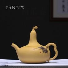 PINNY 270ML YiXing Purple Clay Gourd Teapot Duan Mud Chinese Kung Fu Tea Pots Hand Made Zi Sha Drinkware Sand Crafts