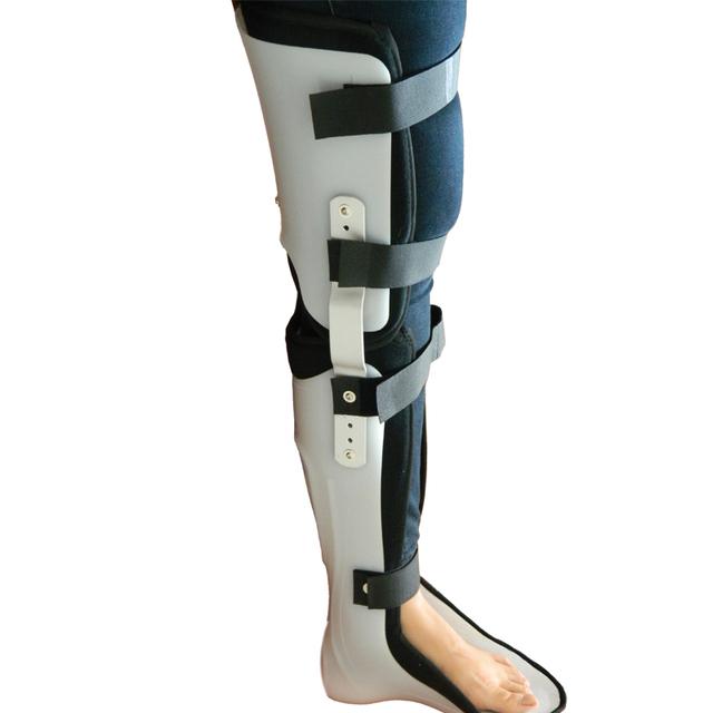 Perna fixa cinta órtese extremidade inferior órtese fraturas tíbia e fíbula joelho - ankle órtese fixação dispositivos