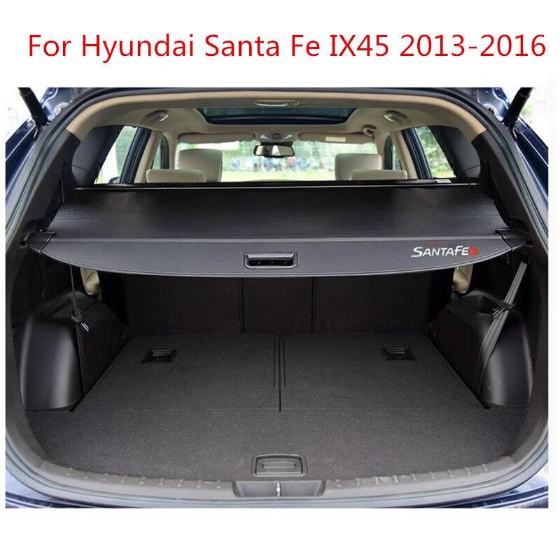 Gewijd Achter Pakket Plank Kofferbak Cover Materiaal Gordijn Achter Gordijn Intrekbare Spacer Achter Rekken Voor Hyundai Santa Fe Ix45 2013- 2016