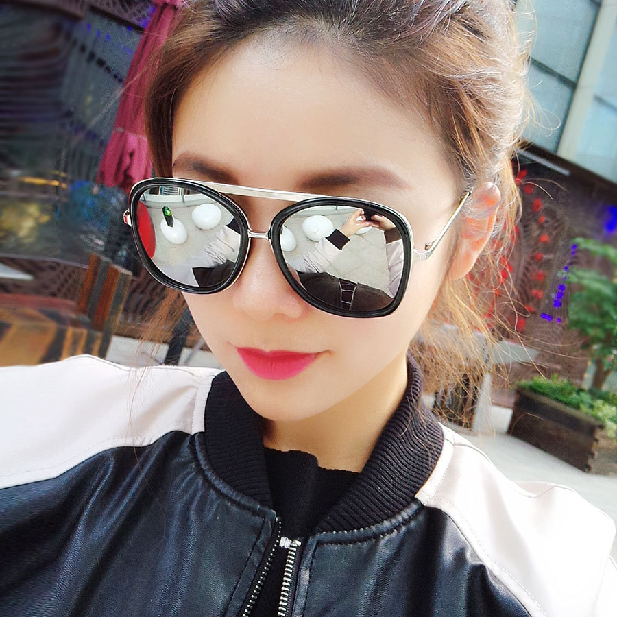 aliexpresscom buy vwktuun reflective women sunglasses vintage big frame sun glasses silver mirror glasses oversized sunglass female sport eyewear from