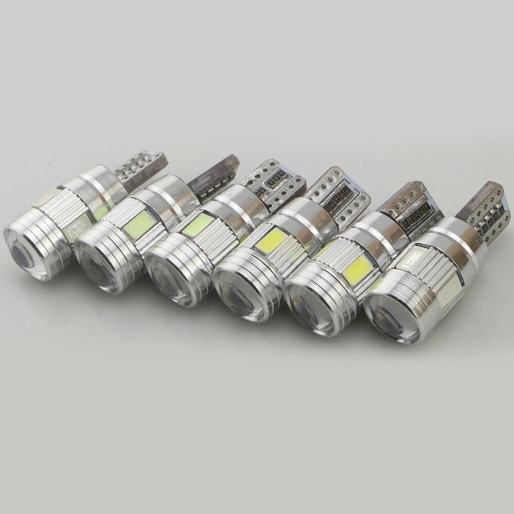 10 pcs Mobil LED Light Bulbs Lampu Izin T10 W5W 6SMD 5630 194 168 - Lampu mobil - Foto 4