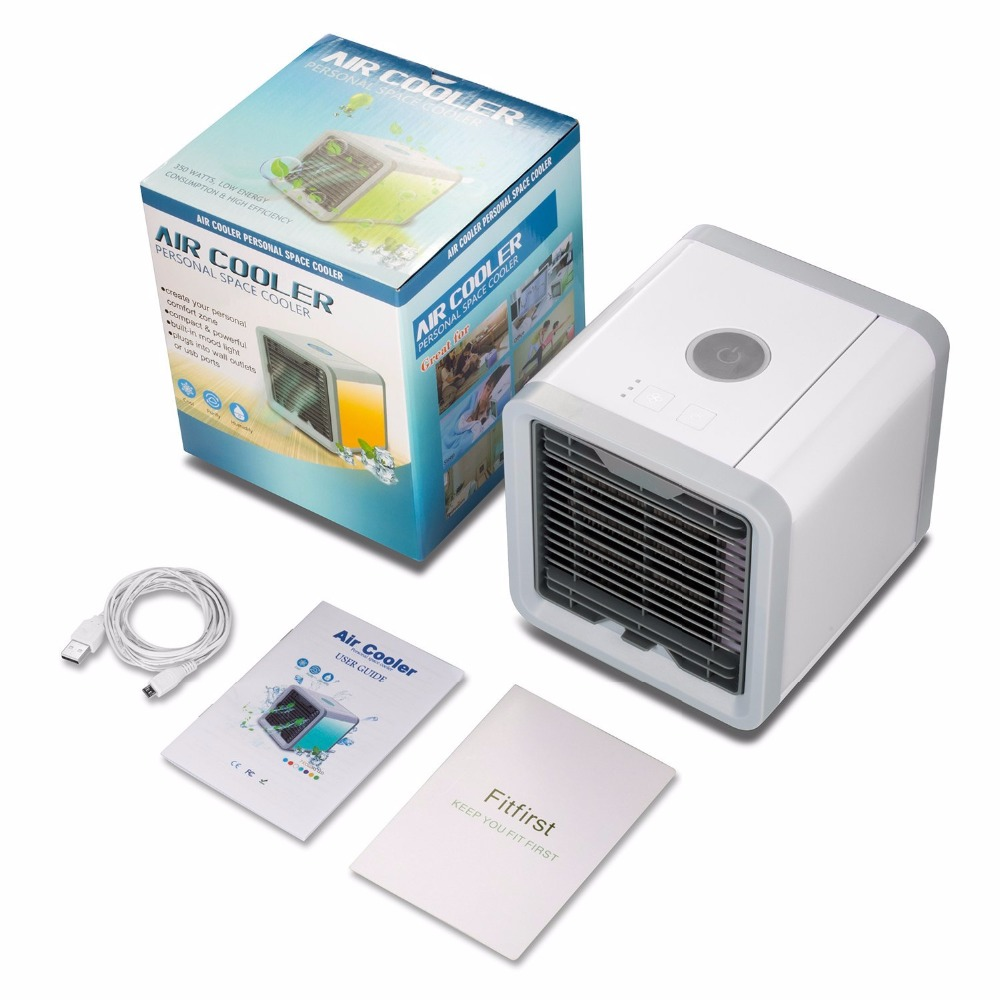 New 2018 Premium Air Cooler & Humidifier Portable Air Conditioner mini fans Air Conditioner Device 7 color lights