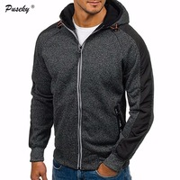 2017 Autumn Winter Men S Casual Grey Sweatshirt Hooded Fleece Warm Jackets Hoodies Hooded Tracksuit Plus