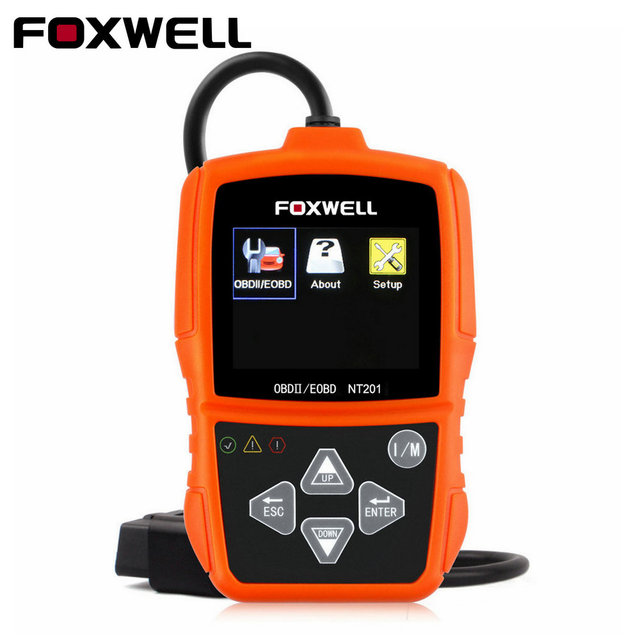 Original Foxwell NT201 Universal OBD2 EOBD CAN Scanner Automotive Engine Code Reader Scan Diagnostic Tool Car OBDII OBD 2 Scaner