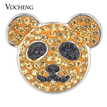Vocheng di Zenzero A Scatto Pendenti e Ciondoli di Zucchero Argilla Strass Bella Animali 18 millimetri 4 Colori Vn-1783