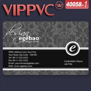 a40058-1 Special Translucent PVC Card Printing