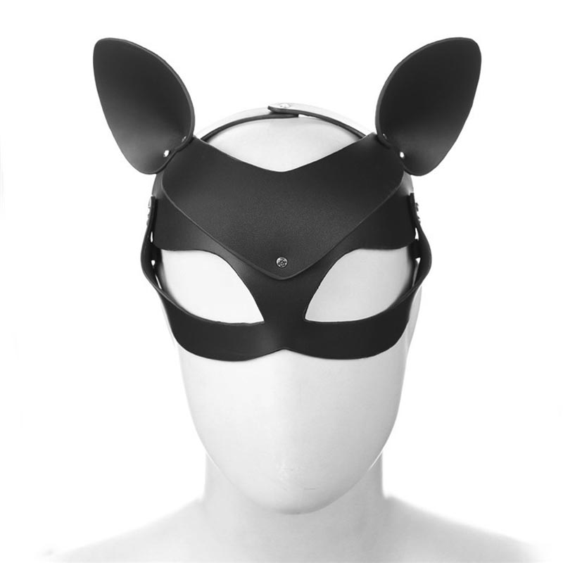 Buy Sexy Faux Leather Catwoman Head Mask Masquerade Halloween Fetish Party Fantasy Costume