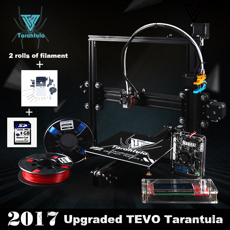 2017 Classic TEVO Tarantula I3 Aluminium Extrusion 3D Printer kit 3d printing 2 Roll Filament 8GB