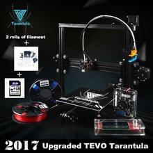 2017 Классический TEVO Тарантул I3 Экструзии Алюминия 3D комплект Принтера принтер 3d печать 2 Рулона Нити 8 ГБ ЖК SD card Как Подарок
