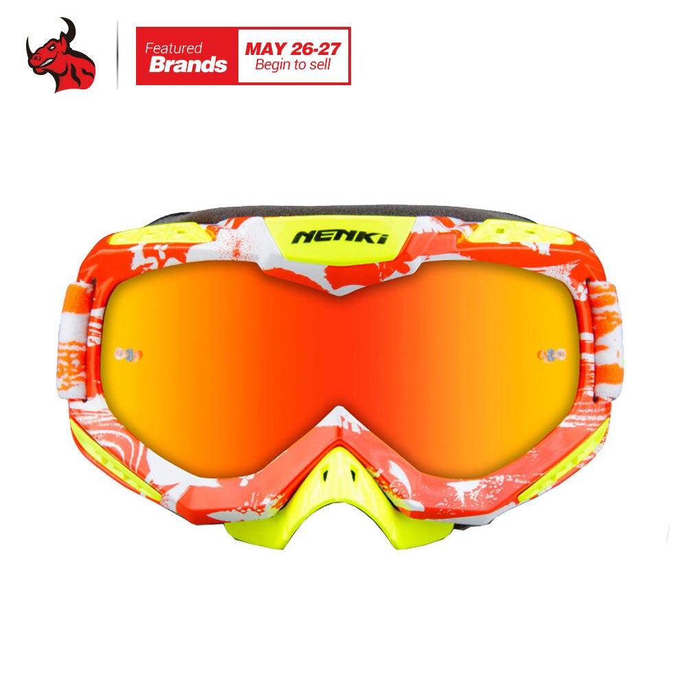 NENKI мотогонок очки мотокросса Лыжный спорт Сноуборд очки Мотокросс DH MTB очки одного объектива