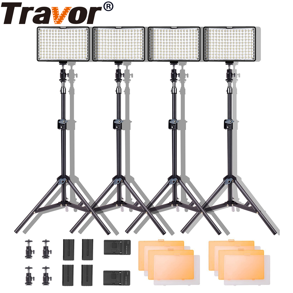4 in 1 video light Studio Lighting Kit  High Power Panel Digital Camera DSLR Camcorder LED light Video with 4 light stand ssr 80aa ac output solid state relays 90 280v ac to 24 480v ac single phase solid relay module rele 12v 80a ks1 80aa