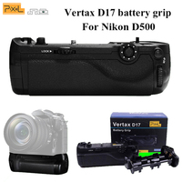 Professional Battery Grip Pixel Vertax D17 for Nikon D500 Compatible with EN EL15 Battery and AA Battery(Replacement for MB D17)
