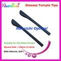 10 pares calidad suave goma anteojos Temple consejos para plana de Metal templo Eyewear de los vidrios de Temple consejos Cap T3550 envío gratis