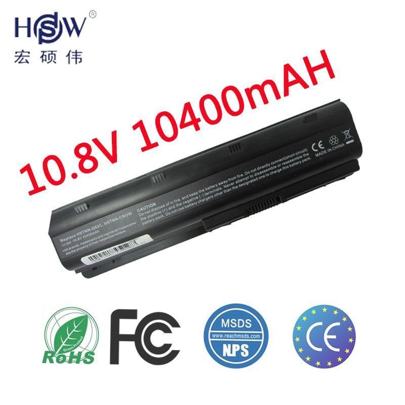 HSW batterie d'ordinateur portable pour hp pavilion DM4 DV3 DV5 DV6 DV7 G32 G42 G62 G56 G72 pour COMPAQ CQ32 CQ42 CQ56 CQ62 CQ630 CQ72 batterie