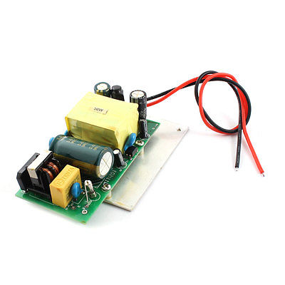 AC 85-265V Black Red 2 Wires 50W LED Driver Power Supply Adapter ac 85v 265v to 20 38v 600ma power supply driver adapter for led light lamp