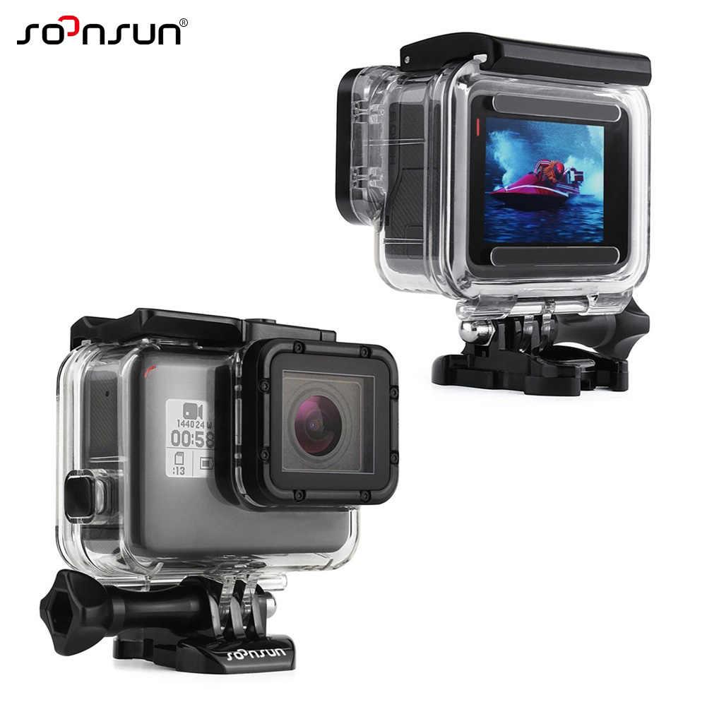 SOONSUN مثبت مضاد للماء تحت الماء الغوص واقية ث/الرباط حقيبة ل GoPro بطل 5 6 7 الأسود ل الذهاب برو اكسسوارات
