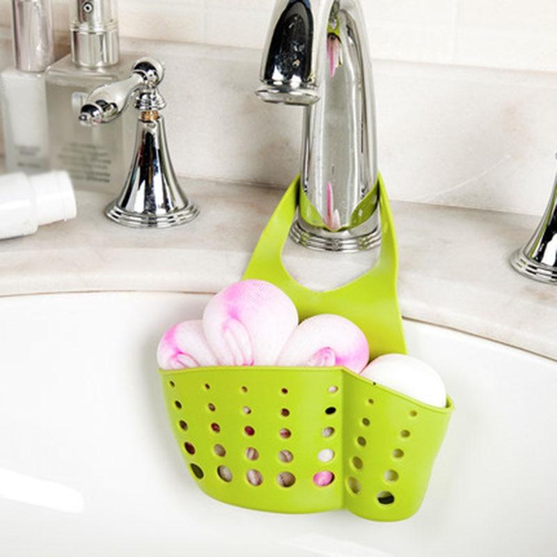 Sink Basket Kitchen Faucet Storage Rack Holder Soap Sponges Caddy Organizer New