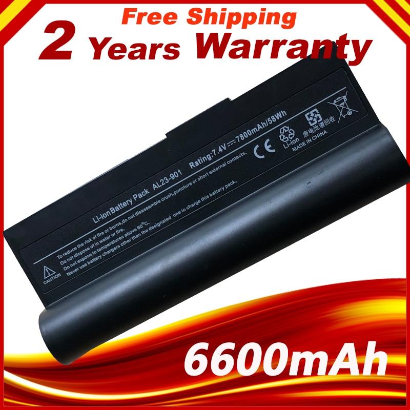 Batterie d'ordinateur portable AL23-901 AP23-901 AP22-1000 Pour Asus Eee PC 1000 1000 H 1000HA 1000HD 1000HE 1000HG 901 904HD