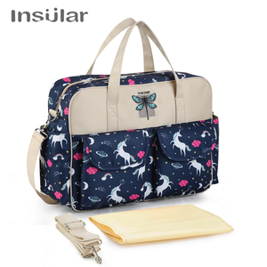 Image 2 - Insular New Style Waterproof Diaper Bag Large Capacity Messenger Travel Bag Multifunctional Maternity Mother Baby Stroller Bags