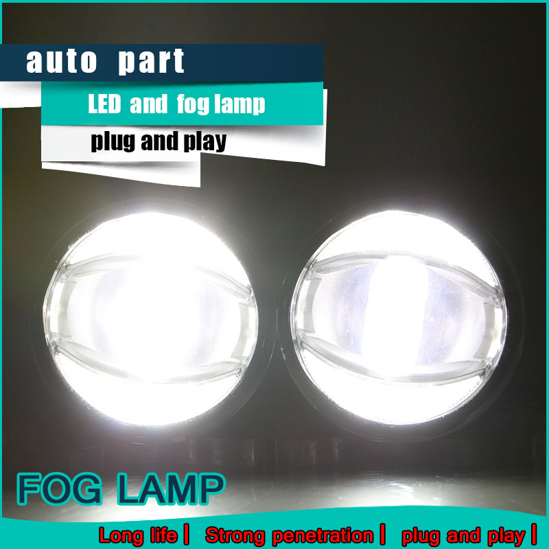 Car Styling Daytime Running Light 2013 for Mitsubishi L200 Fog Light Auto Angel Eye Fog Lamp LED DRL High&Low Beam Fast Shipping for mitsubishi l200 kb