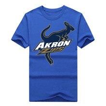 2016 Akron Zips 100% Cotton Men's T-shirt Guitar Cool T Shirt Casual Tees