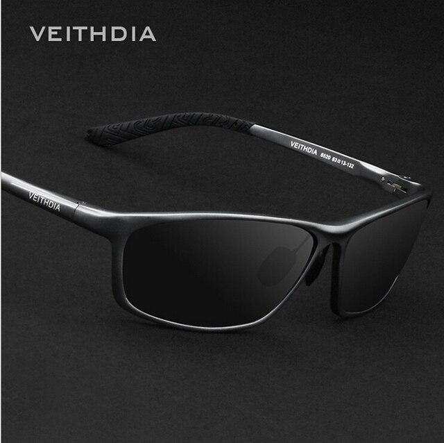 VEITHDIA 6520 hombres gafas de Sol Polarizadas de Fahsion de la Marca Original de gafas de Sol De Aluminio Y Magnesio Coche UV400 Gafas