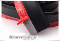 2.5M/8.2ft Universal Car Sticker Lip Skirt Protector for fiat punto 500 bravo freemont stilo panda linea accessories car styling