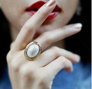 T743 925 Silber Personalisierte ring Für Frauen Zirkonia Stein ring