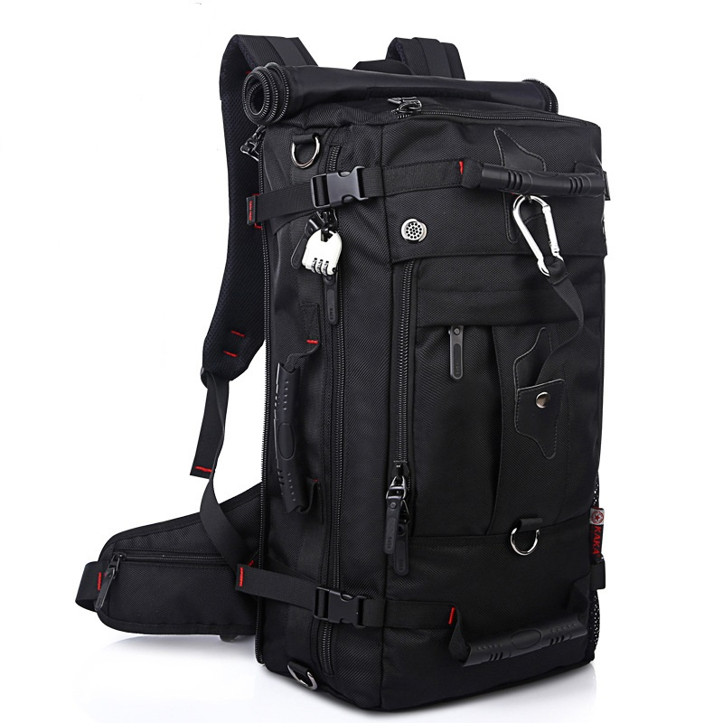 ФОТО Waterproof Oxford Backpack Easy Bag Travel Practical Bags 40L Camouflage Chain With Backpack B-01