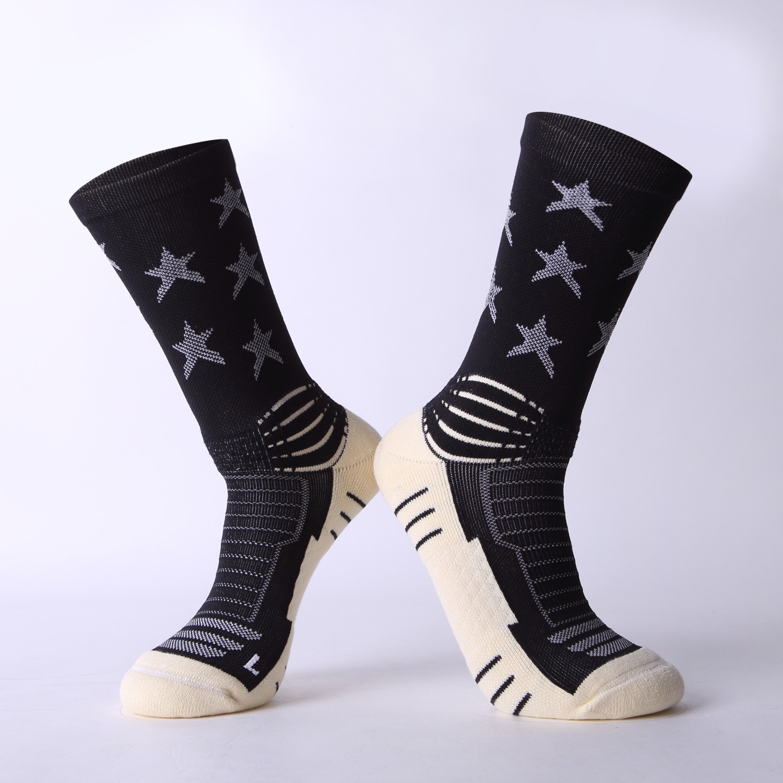 Brothock Stars Elite thick Pentagram basketball socks towel bottom summer running men professional sports wholesale