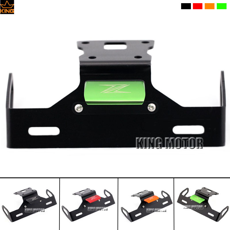 For KAWASAKI Z125 Motorcycle Accessories Tail Tidy Fender Eliminator Registration License Plate Holder Bracket LED Light Green motorcycle tail tidy fender eliminator registration license plate holder bracket led light for ducati panigale 899 free shipping