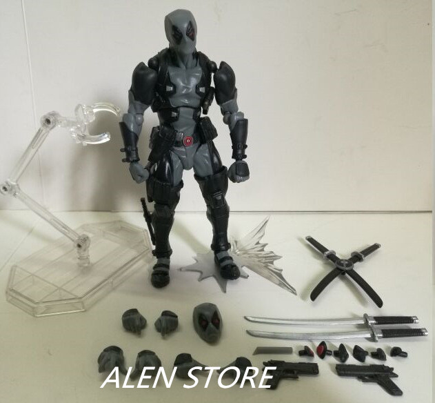 ALEN Deadpool Action Figure Wade Winston Revoltech PVC Figure Toy 160mm Anime Movie Deadpool X-men Collectible Model Doll fire toy marvel deadpool pvc action figure collectible model toy 10 27cm mvfg363